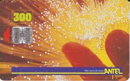 005 TARJETA DE URUGUAY  DE FIBRA OPTICA DE 300 PESOS - Uruguay
