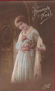 Joyeux Noel Christmas Kerstmis 1916 Carte Fantaisie CPA Fantasiekaart Fantasie Lady Girl La Favorite 68 Cornucopia - Navidad