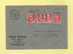 Marianne De Gandon - Destination Suede - 6-4-1949 - Marcophilie (Lettres)