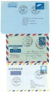 Norwegen, 3 Aerogramme Nach USA Und Schweden - Luftpost