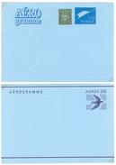 Norwegen, 2 Aerogramme **, - Luftpost
