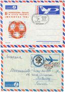 Polen, 2 Aerogramme O, Warschau 1978 Und Krakau 1974 - Luftpost