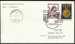 Austria Vienna - Oberwart 1975 / Post Sent With Helicopter / Philatelic Exhibition / Cancel No 1 - Helicopters