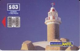 Nº 42 TARJETA DE URUGUAY DE ANTEL DE EL FARO DE PUNTA CARRETAS (LIGHTHOUSE) - Uruguay