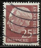 Bund 1954, Michel # 186 Y Papier Fluoreszenz - Used/obliterato - [7] Repubblica Federale