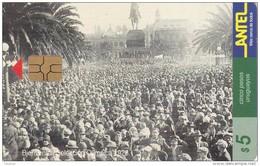 Nº 59 TARJETA DE URUGUAY DE ANTEL DE BIENVENIDA A LA SELECCION DEL MUNDIAL DEL AÑO 1928 (FUTBOL-FOOTBALL) - Uruguay