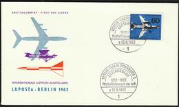 Germany Berlin 1962 / 50 Jahre Luftpost / 50 Years Of Air Mail / LUPOSTA / Airplanes - Avions