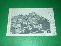 Cartolina Soriano Nel Cimino - Veduta Dal Viale Dei Castagni 1904 - Viterbo