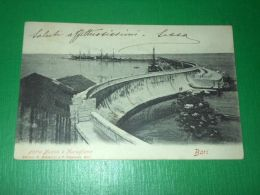 Cartolina Bari - Porto Nuovo E Muraglione 1902 - Bari