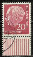# Bund 1954, Michel # 185 Y Papier Fluoreszenz Walzendruck - Used - [7] Repubblica Federale