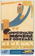 Nº 65 TARJETA DE URUGUAY DE ANTEL AFICHE DEL MUNDIAL DEL AÑO 1930 (FUTBOL-FOOTBALL) - Uruguay