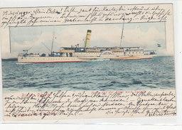 Binz Auf Rügen - Freya Auf Der Fahrt Nach Sassnitz - 1900    (A-40-150105) - Steamers