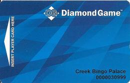 Creek Entertainment Center / Casino - Montgomery, AL - Diamond Game Card - Casino Cards