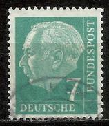 Bund 1954, Michel # 181 Y Papier Fluoreszenz - Used/obliterato - [7] Repubblica Federale