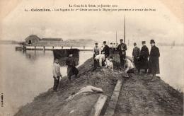 COLOMBES - La Crue De La Seine Le 30/01/1910  - Sapeurs Du 1er Génie Coupant La Digue - Colombes
