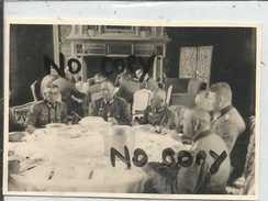 78 THOIRY  CHATEAU REPAS OFFICIERS  SALLE A MANGER CHEMINEE JUILLET 1940   PHOTO ALLEMANDE - Foto