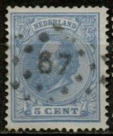 NLE-27   PTS 67  LEEUWARDEN    Yvert 19 - Period 1852-1890 (Willem III)