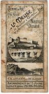 C1900 Dépliant Avec Carte Panoramique Litho La Meuse De Namur à Givet, Chemins De Fer De L'Etat Belge - 4 Scans - Toeristische Brochures