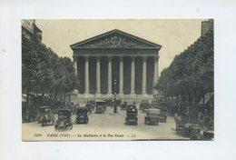 1913 France Carte Postale CPA  Paris  La Madeleine Et La Rue Royale, Voitures Et Taxis - Taxis & Droschken