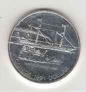 Canada 1 Dollar En Argent Frontenac 1991 - Canada