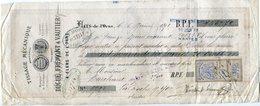 Tissage Mécanique VAUTIER Flers De L'Orne 1878 Pour M. Marchand La Roche Sur Yon - Letras De Cambio