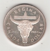 Canada 1 Dollar En Argent Regina 1982 - Canada