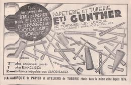 Ets GUNTHER DE FONTAINE LES LUXEUIL (1940) - Autres Communes