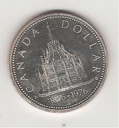 Canada 1 Dollar En Argent Bibliothèque Du Parlement Ottawa 1976 - Canada