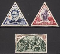 MONACO 1951 -  Y.T. SERIE N° 353 A 355 - 3 TP OBLITERES /K93 - Monaco