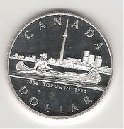 Canada 1 Dollar En Argent Toronto 1984 - Canada