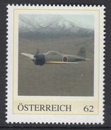 ÖSTERREICH 2016 ** 2.WK -Mitsubishi A6M Zero, Japanisches Kampfflugzeug, Pearl Harbour 1941 - PM Personalized Stamps MNH - 2. Weltkrieg