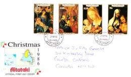 Aitutaki FDC Paintings By Albrecht Durer: Christmas 1986 21/11/1986 - Aitutaki