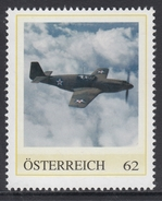 ÖSTERREICH 2016 ** 2. Weltkrieg - North American P-51 Mustang, Jagdbomber - PM Personalized Stamps MNH - 2. Weltkrieg