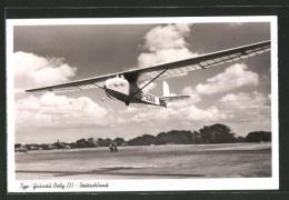 AK Segelflugzeug Grünau Baby III. Im Landeanflug - Unclassified