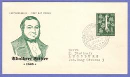 GER SC #735  1955 Adalbert Stifter, Poet  FDC 10-22-1955 - [7] Federal Republic