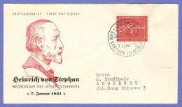 GER SC #738  1956 Heinrich Von Stephan / UPU,  FDC 01-07-1956 - FDC: Covers