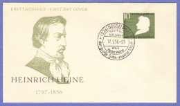 GER SC #740  1956 Heinrich Heine, Poet,  FDC 02-17-1956 - FDC: Covers
