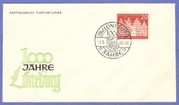 GER SC #741  1956 Millenary Of Luneburg,  FDC 05-02-1956 - [7] Federal Republic