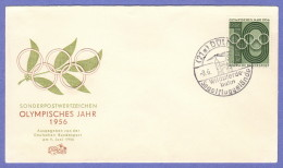 GER SC #742  1956  Olympic Year, 1956,  FDC 06-09-1956 - FDC: Covers