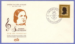 GER SC #743  1956  Robert Schumann, Composer,  FDC 07-28-1956 - FDC: Covers
