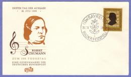 GER SC #743  1956  Robert Schumann, Composer,  FDC 07-28-1956 - [7] Federal Republic