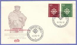 GER SC #744-5 1956  Evangelical Synod,  FDC 08-08-1956 - [7] Federal Republic