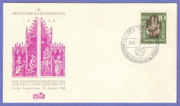 GER SC #750 1956  Meeting Of German Catholics  FDC 08-29-1956 - FDC: Covers
