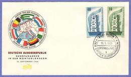 GER SC #748-9 1956  Europa  FDC 09-15-1956 - [7] Federal Republic