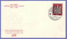 GER SC #747 1956  Maria Laach Abbey  FDC 08-24-1956 - FDC: Covers