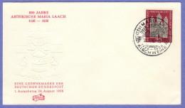 GER SC #747 1956  Maria Laach Abbey  FDC 08-24-1956 - [7] Federal Republic