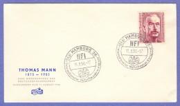 GER SC #746 1956  Thomas Mann, Novelist  FDC 08-11-1956 - [7] Federal Republic