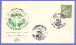 GER SC #752 1956  Day Of The Stamp  FDC 10-27/28-1956 - [7] Federal Republic