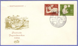GER SC #B348-9 1956 S-P / Youth Hostel Organization  FDC 07-21-1956 - FDC: Covers