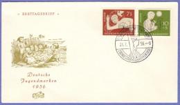 GER SC #B348-9 1956 S-P / Youth Hostel Organization  FDC 07-21-1956 - [7] Federal Republic